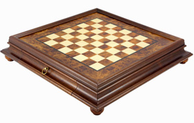Italian Rootwood Chess Cabinet with Draw