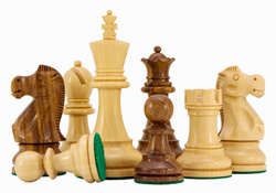 Jacob Knight Chessmen in Sheesham wood