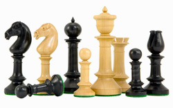 Northern Upright Chessmen in Ebony