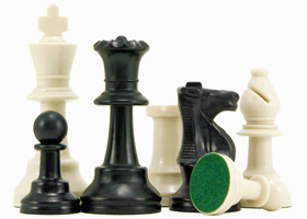 Plastic School Chess Pieces 3 3/4 Inches